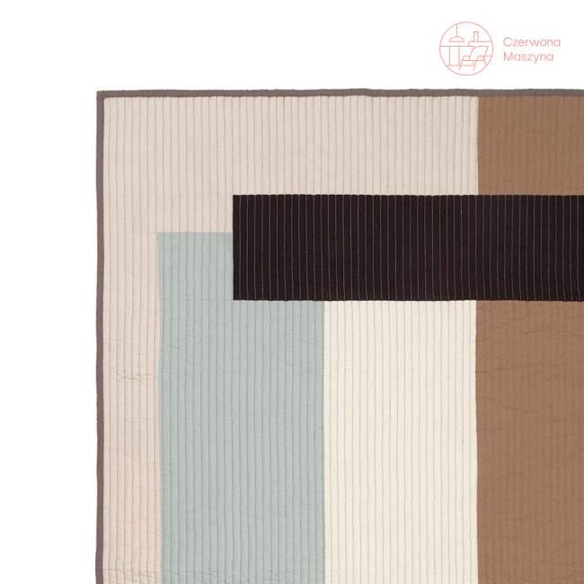 Koc ferm LIVING Shay Patchwork Quilt Blanket, Desert