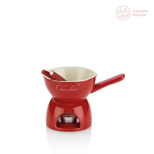 Zestaw do fondue czekoladowego Kela Amuri 0,3 l, czerwony
