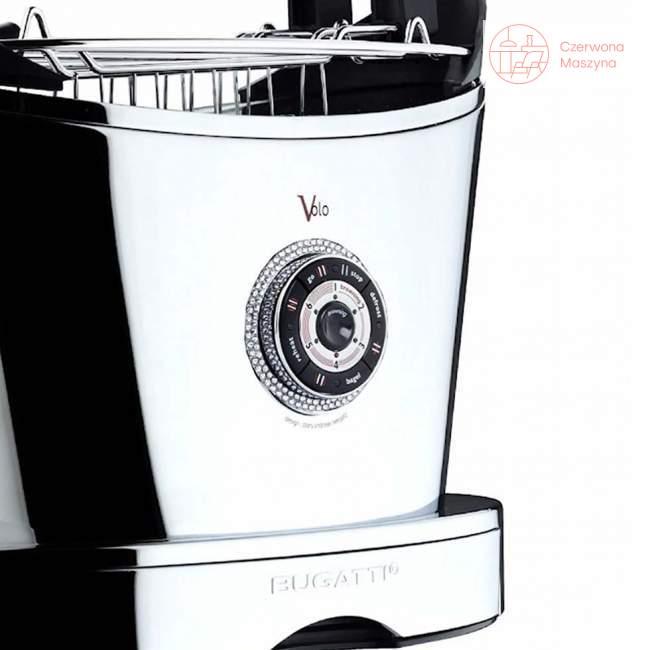 Toster Bugatti Volo, chromowany, 140 kryształków Swarovskiego