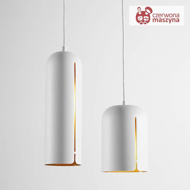 Lampa wisząca Woud Gap 20 cm, biała