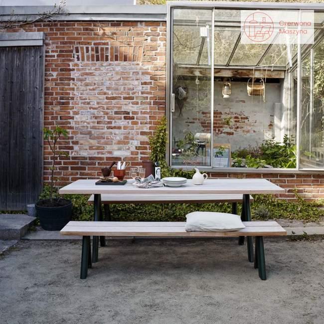 Stół ogrodowy Skagerak Overlap 220 cm, antracytowy