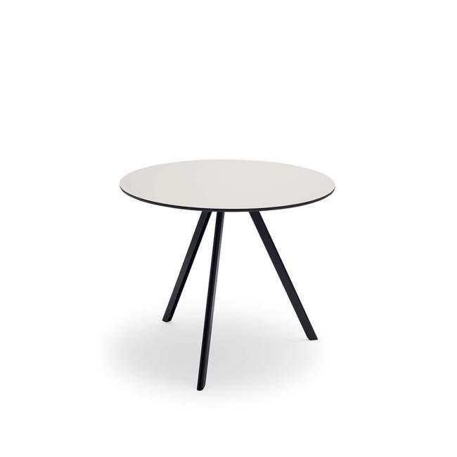 Okrągły stół ogrodowy Skagerak Overlap Ø 85 cm, Silver Grey / Anthracite Black