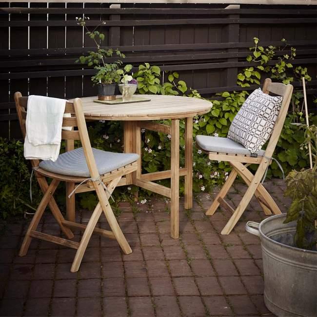 Okrągły stół ogrodowy Skagerak Selandia Ø94