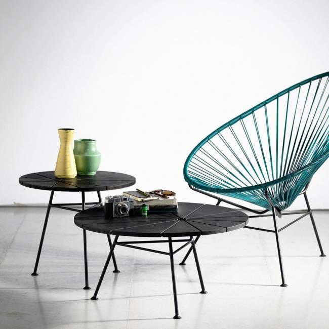Stolik Kawowy OK Design Bam Bam Ø 70 cm, czarny