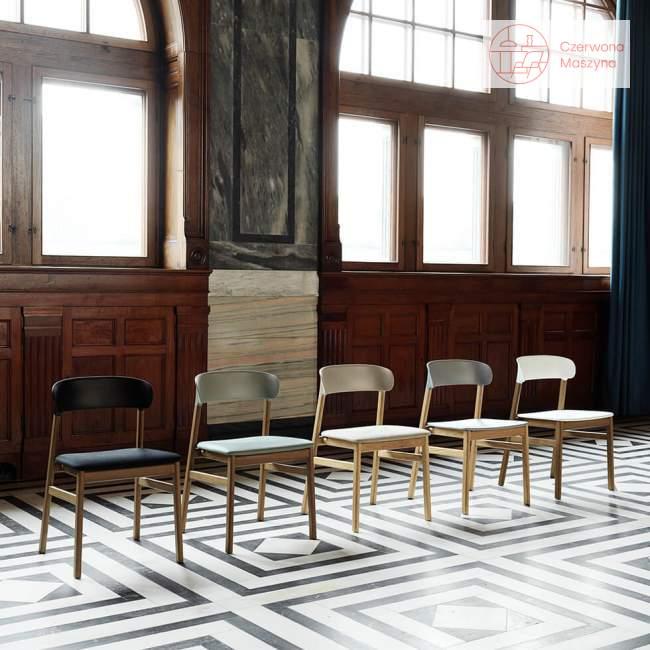 Krzesło Normann Copenhagen Herit oak dusty green