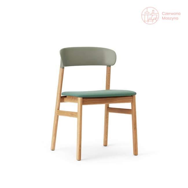 Krzesło tapicerowane Normann Copenhagen Herit oak dusty green