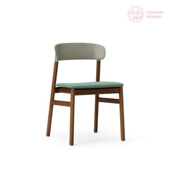 Krzesło tapicerowane Normann Copenhagen Herit smoked oak dusty green