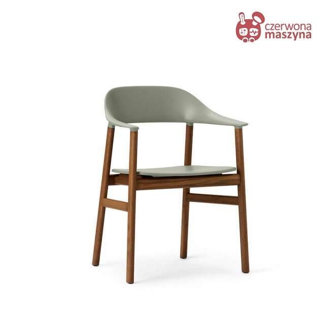 Krzesło z podłokietnikiem Normann Copenhagen Herit smoked oak dusty green