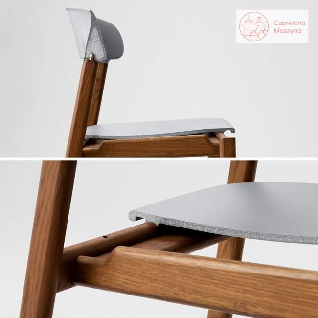 Krzesło z podłokietnikiem tapicerowane Normann Copenhagen Herit smoked oak grey