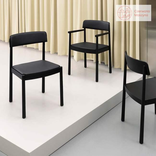Krzesło Normann Copenhagen Timb Black/Black leather