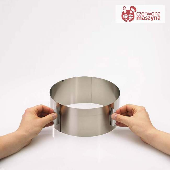 Regulowana obręcz do ciasta wys. 8,5 cm Gefu Tondo