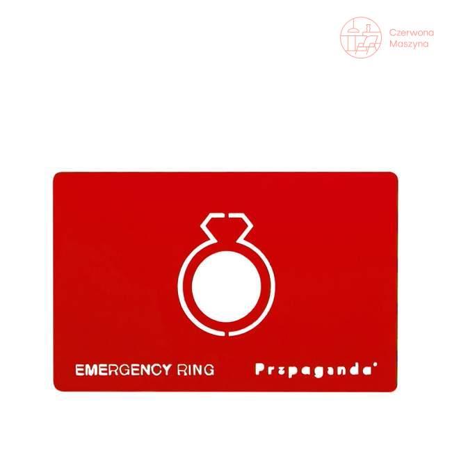 Pierścionek awaryjny Propaganda Emergency Ring Red