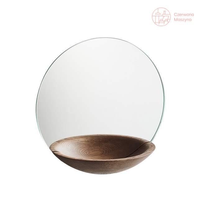 Lustro wiszące Woud Pocket Mirror duże ciemne drewno