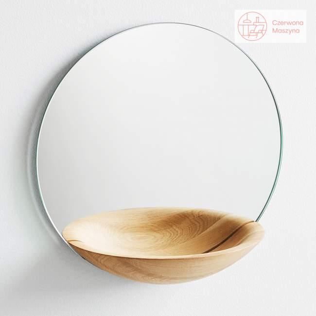Lustro wiszące Woud Pocket Mirror duże jasne drewno