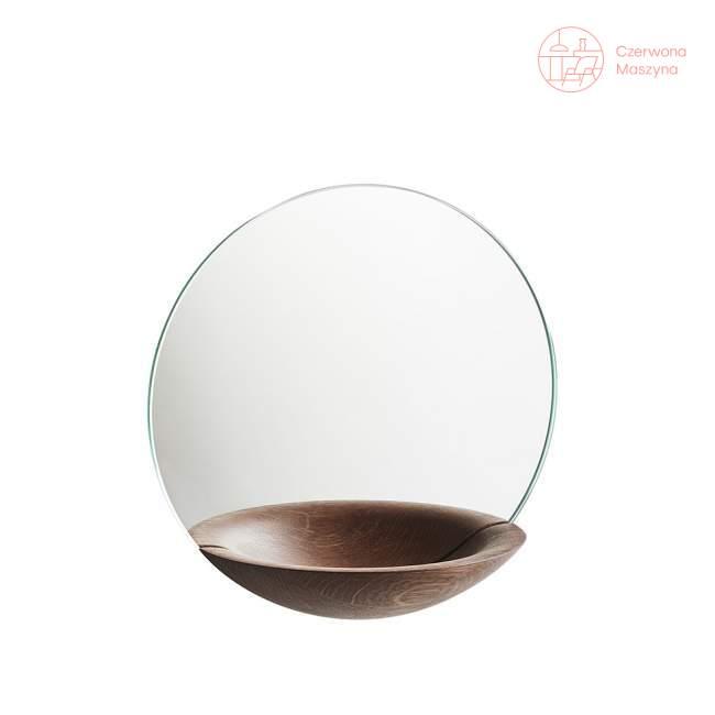 Lustro wiszące Woud Pocket Mirror małe ciemne drewno
