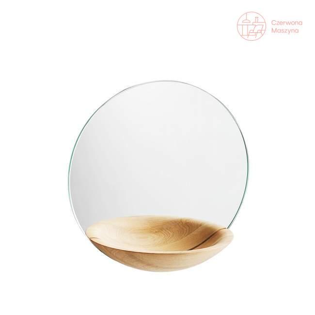 Lustro wiszące Woud Pocket Mirror małe, jasne drewno