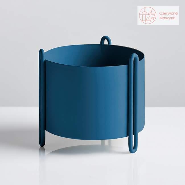 Osłonka na doniczkę Woud Pidestall niebieska