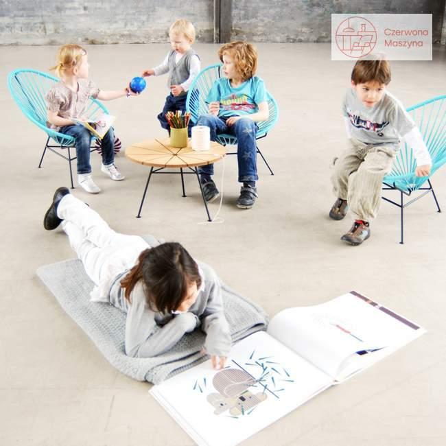 Fotel dla dziecka OK Design Acapulco mini, jasnoniebieski