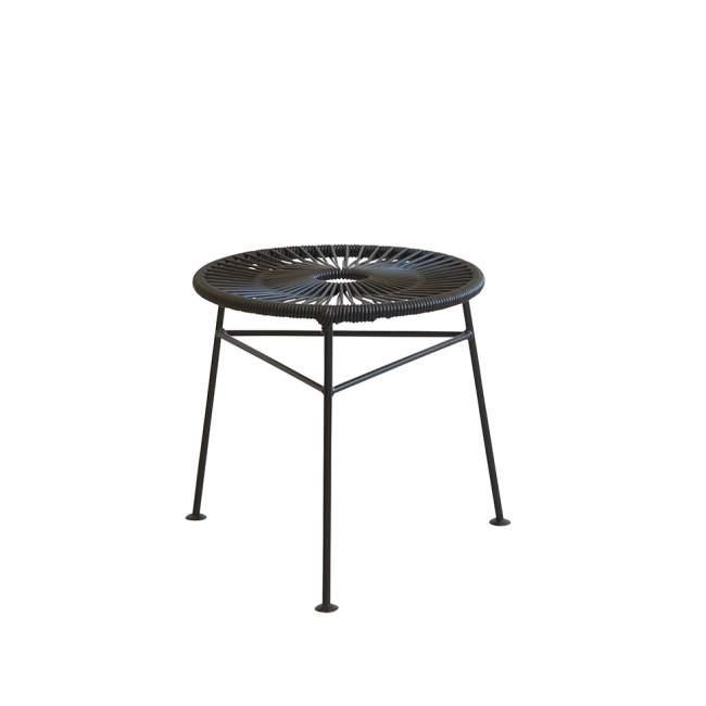 Ogromny Taboret - stolik kawowy OK Design Centro Ø 42 cm, czarny JM16