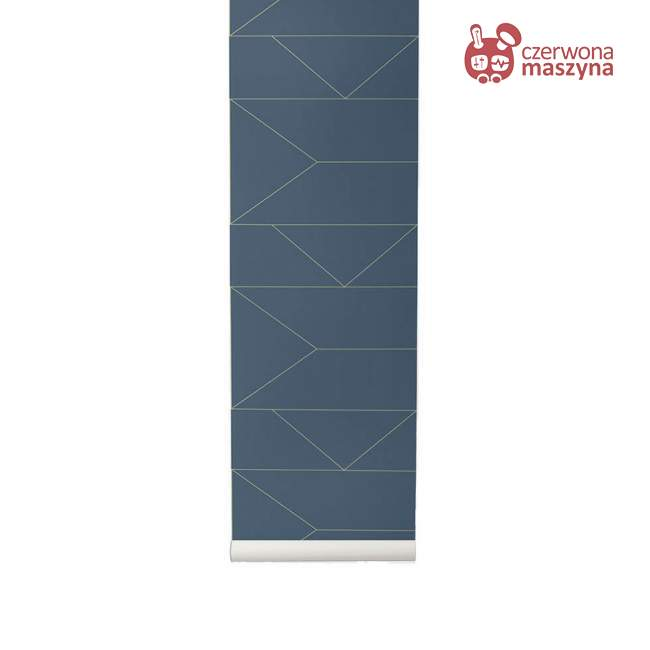 Tapeta ferm LIVING Lines Dark Blue