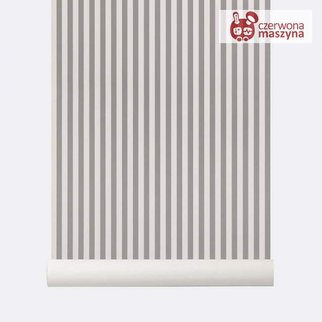 Tapeta ferm LIVING Thin Lines Grey/Off White
