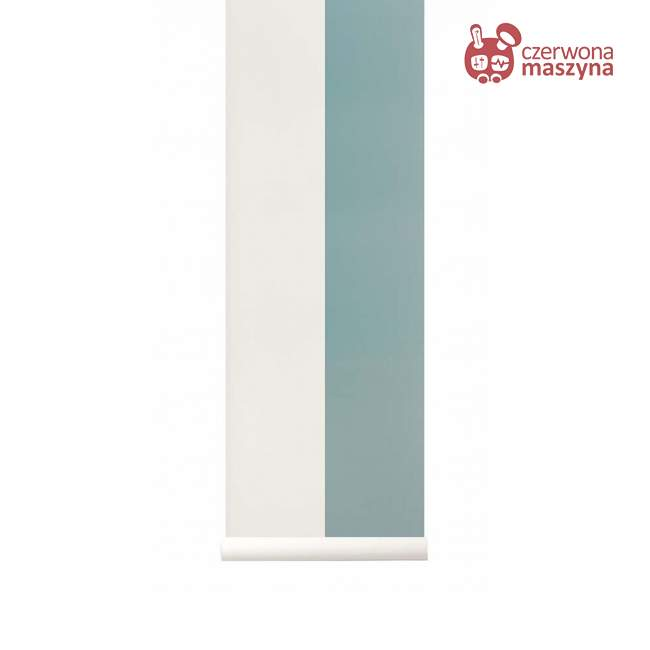 Tapeta ferm LIVING Thick Lines Dusty Blue/Off White