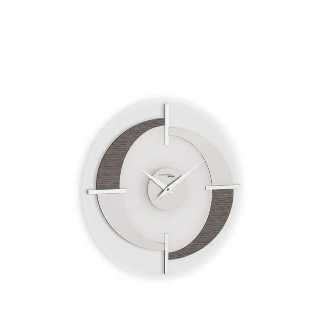 Zegar ścienny Incantesimo Design Modus mocha Ø 40 cm, aleve grey