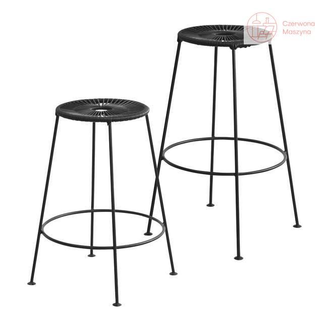 Krzesło barowe OK Design Acapulco 75 cm, czarne