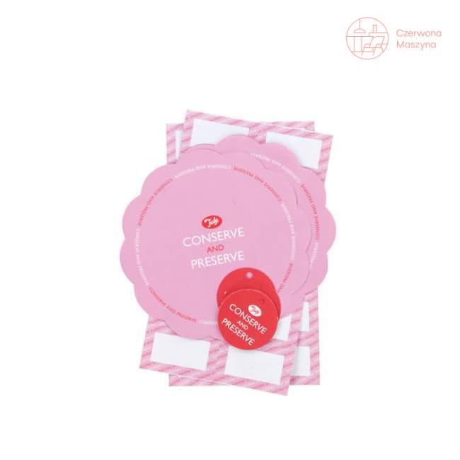 Zestaw do dekorowania słoików Tala Retro różowy
