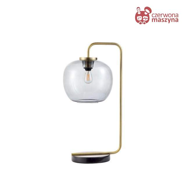 Lampa stołowa Bolia Grape, matt antique brass/grey shade