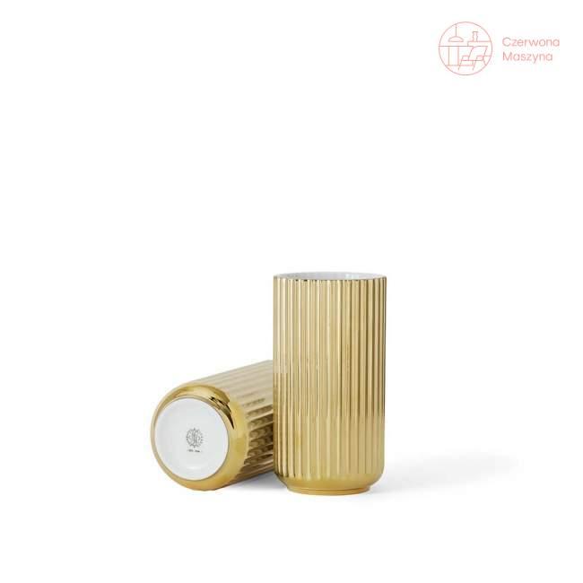 Wazon porcelanowy Lyngby 20 cm, gold