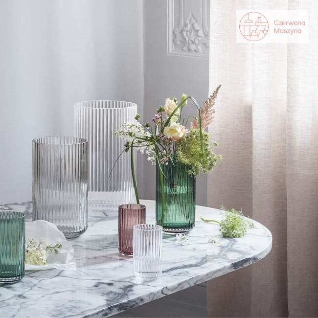 Wazon szklany Lyngby 25 cm, burgundy