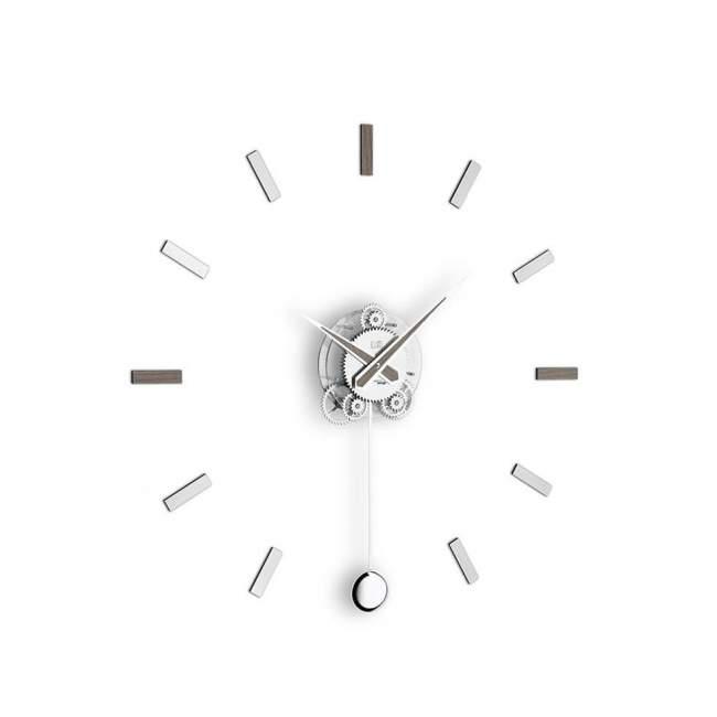 Zegar ścienny z wahadłem Incantesimo Design Illum Pendolo statico Ø 80 cm, aleve grey