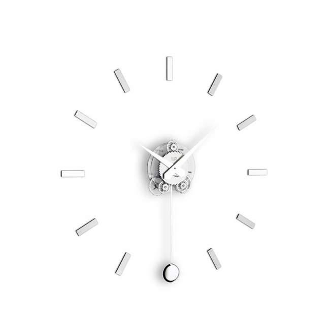 Zegar ścienny z wahadłem Incantesimo Design Illum Pendolo statico Ø 80 cm, metal
