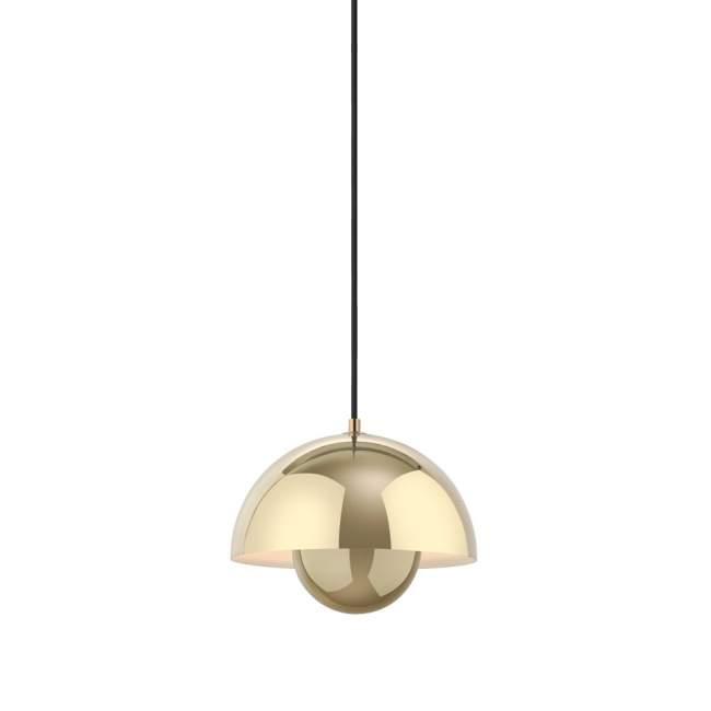 Lampa wisząca &tradition Flowerpot VP1 Ø 23 cm, mosiężna polerowana