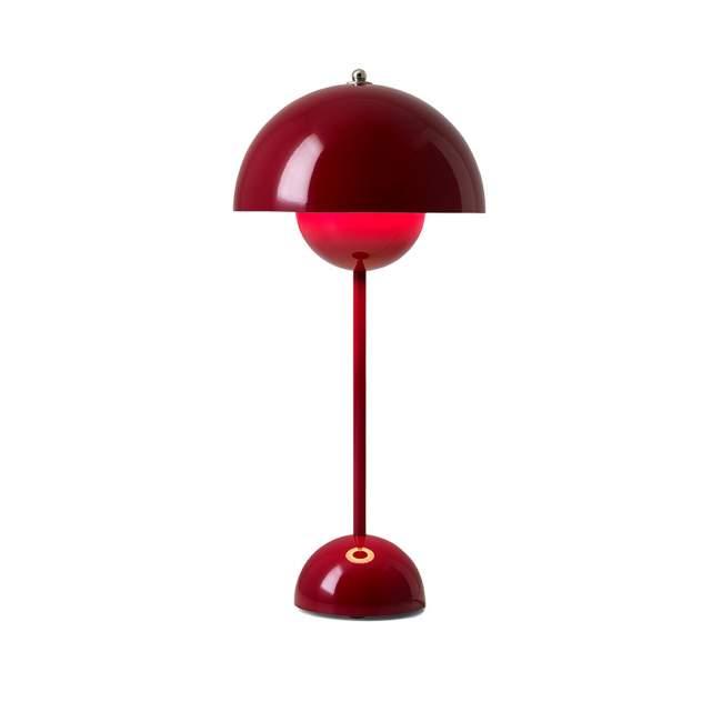 Lampa stołowa &tradition Flowerpot VP3 Ø 23, czerwona
