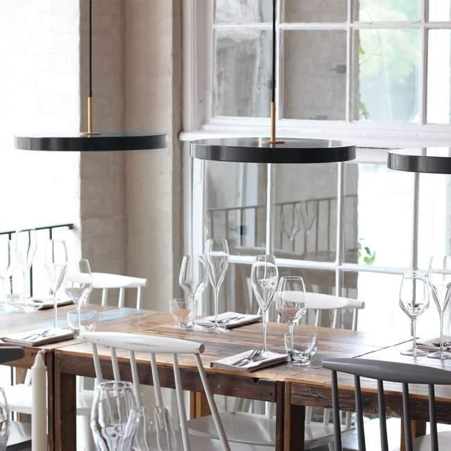 Lampa wisząca Umage Asteria (dawniej Vita Copenhagen) Ø 43 cm, antracytowa