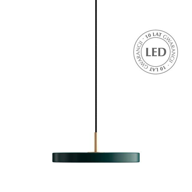 Lampa wisząca Umage Asteria Mini Ø 31 cm, szmaragdowa