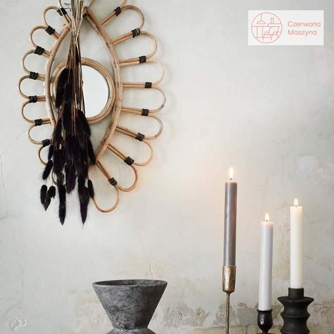 Bambusowe lustro Madam Stoltz, 51 x 33 cm, natural/black