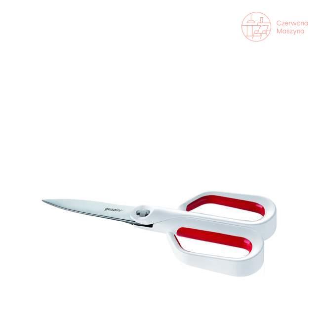 Nożyce 3 w 1 Guzzini My Kitchen, biało-czerwone