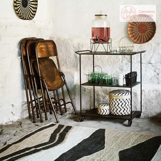 Wózek z 3 półkami Madam Stoltz, black