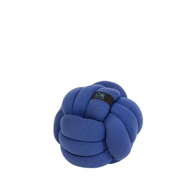 Poduszka OK Design Chango Ø 32 cm, kobaltowa