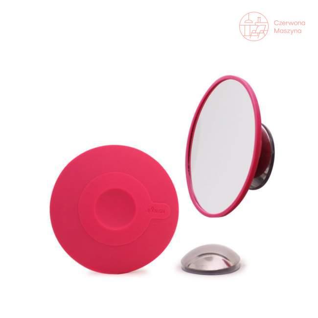 Lusterko powiększające do makijażu, magnetyczne Bosign, różowe