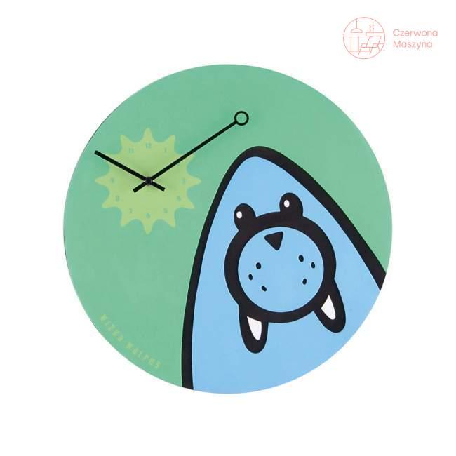 Zegar ścienny NeXtime zielony Wizky Walrus
