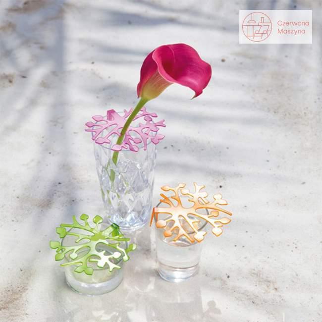 2 Kratki do aranżacji bukietów Koziol Bloomi fioletowa, różowa