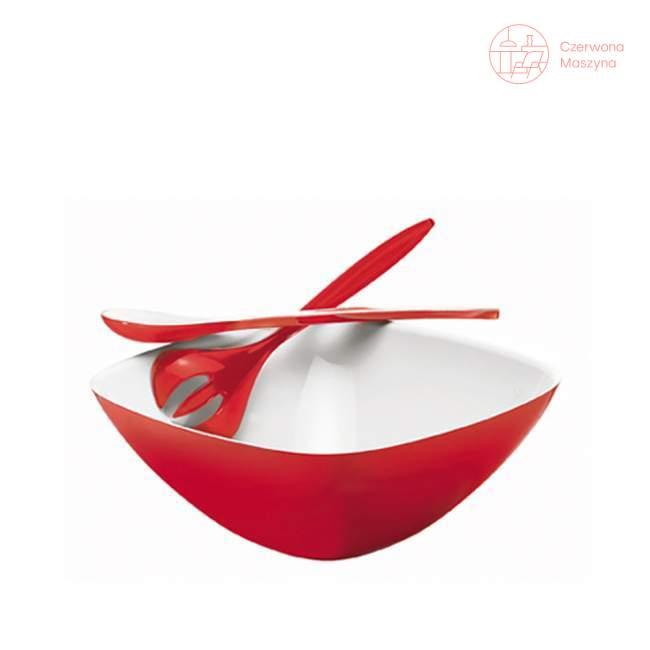 Miska z łyżkami do sałaty Guzzini Vintage czerwona