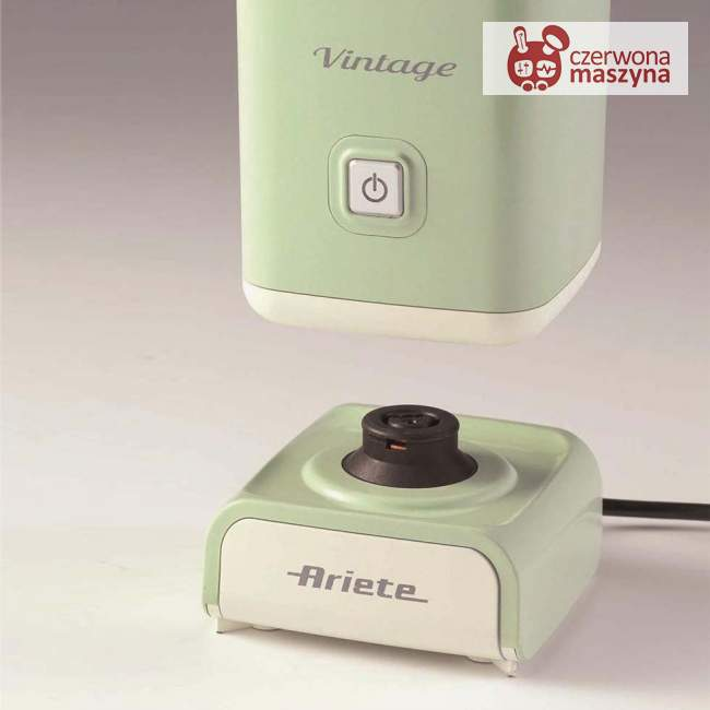 Spieniacz do mleka Ariete Vintage 140 ml, zielony