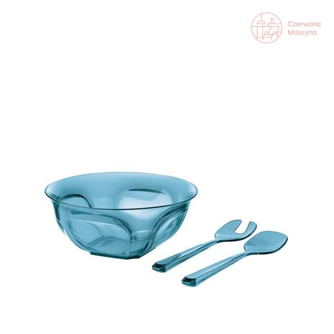 Miska z łyżkami do sałaty Guzzini Belle Epoque 2,6 l, niebieska