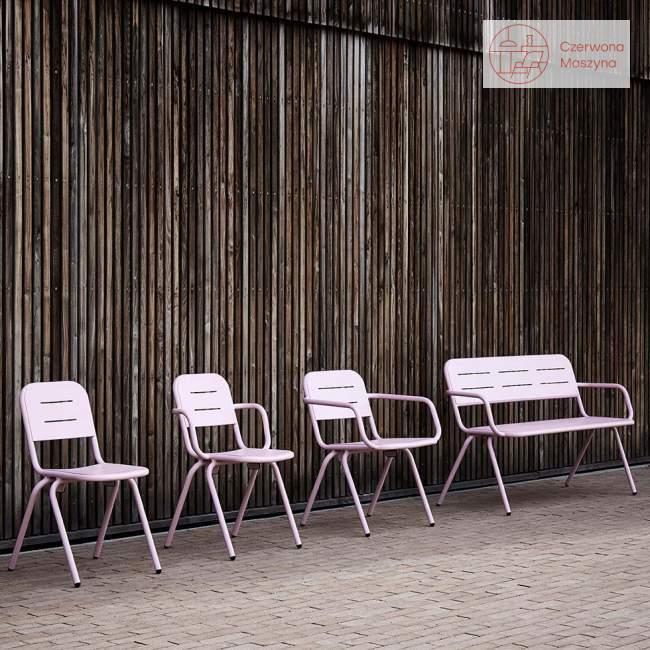 Krzesło z podłokietnikami Woud Ray 61 cm, różowe