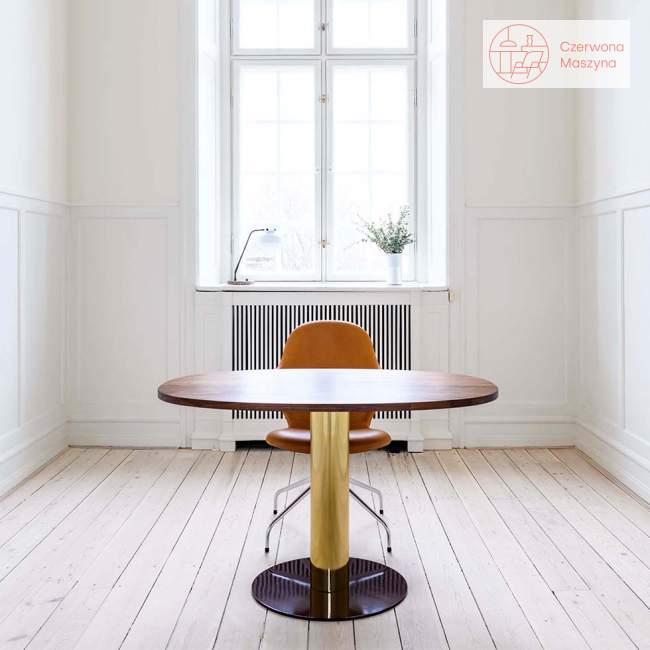 Stół &tradition Mezcla JH22 73 cm Chrome / Travertine